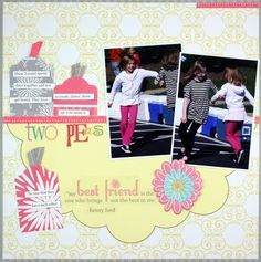 Tag Maker Project Ideas / Pastel Decorative Cardstock Scrapbook Layout