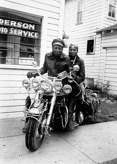 Motorcycle Riders, c. 1960 by Henry Clay Anderson