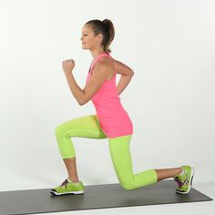 """All types of lunges are great for working your backside, but trainer Jennifer Pattee, owner of Basic Training, is partial to a specific move: the walking lunge. """"It's a great way for women to tone the butt, to get that kind of shelf butt,"""" she explains. """"Normally you can't really spot reduce and it's hard to really tone specific muscle groups, but that one works."""" This exercise also tones your thighs, so consider it a must-do for shorts season."""