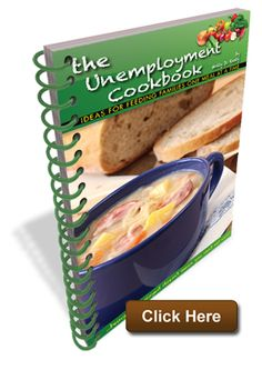 """The Unemployment Cookbook. """"Sometimes it's hard to make ends meet. Food shouldn't be a sacrifice. The Unemployment Cookbook is a collection of recipes for eating abundantly on a frugal income.""""  Order your copy at www.NewInklingsPress.com"""