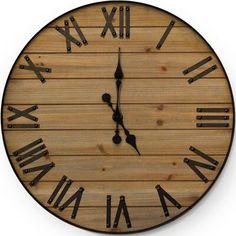 """Gracie Oaks Oversized Hirschman 24"""" Wall Clock"""