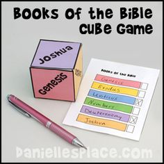 Books of the Bible Cube Game for Sunday School