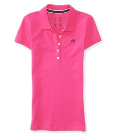 Aéropostale Camisa Polo Feminina Rosa