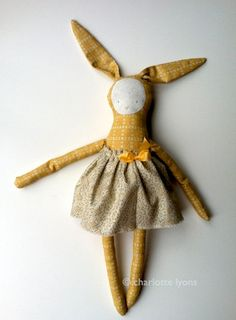 Too cute! Considering making these for Easter.     josie (or joey) bunny PDF : pattern and instructions to make a soft bunny toy with a skirt. $6.95, via Etsy.