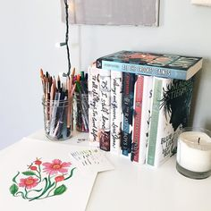 my stiefvater / han shrine on my desk AKA my bookshelf has no more room and i have to be creative with where i put books!  ALSO society6 is having a ONE DAY ONLY 20% off  free shipping offer with the code SEEYALATER! shop my products with the link in my bio!  #booklover #books #bibliophile #lovebooks #lovereading #bookstagram #bookphotography #bookworm #booknerd #bookaholic #apaperreverie #photography #igbooks #igreads #bookishfeatures #bookstagramfeature #bookaddict