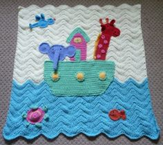üzeri işlemeli örgü bebek battaniyesi