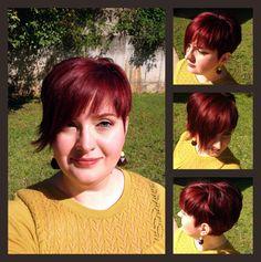 Asymmetrical short red hair... does it get anymore fun than that?