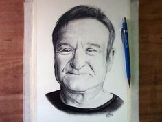 robin williams art | Robin Williams Drawing by LethalChris