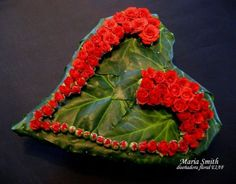Green heart with roses - Maria Smith, designer floral EIAF