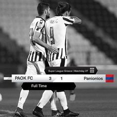 #PAOKPGSS 3-1 #SuperLeague