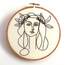 You, Me, and Embroidery — sewappalled:   Hand Embroidered Pablo Picasso Line...