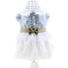 Norbi Dogs Cat Puppy Lace Bow Princess Skirt Dress >>> For more information, visit now : Costumes for dog