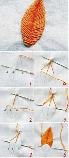 Brazil Embroidery Techniques, # brazilian # brazilian embroidery patterns # brazilian embroidery how to make # brazilian embroidery sample. Embroidery Leaf, Mexican Embroidery, Embroidery Stitches Tutorial, Silk Ribbon Embroidery, Hand Embroidery Patterns, Embroidery Techniques, Cross Stitch Embroidery, Embroidery Designs, Sewing Patterns
