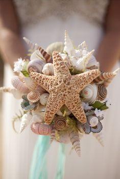 Unique beach wedding bouquet.. would you??