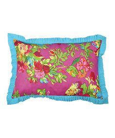 Look at this #zulilyfind! Purple Bird Ruffle Throw Pillow by Karma Living #zulilyfinds