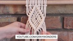 How to create a macrame diamond pattern with a basket weave center. This pattern is perfect to add to macrame wall hangings. Macrame Design, Macrame Art, Macrame Projects, Macrame Plant Hanger Patterns, Macrame Wall Hanging Patterns, Free Macrame Patterns, Art Macramé, Basket Weaving, Youtube Kanal