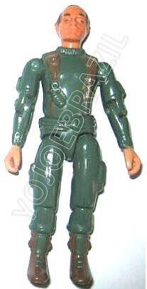 Descrição:   O Frente de Batalha (Front) foi lançado no Brasil em 1985 (Série 2) pela companhia de Brinquedos Estrela (Código 15.00.08), a figura corresponde ao modelo straight arm (sem movimento nos cotovelos). Trata-se da versão nacional do Infantry Trooper [Grunt] fabricado em 1982 pela Hasbro pela série G.I. JOE.