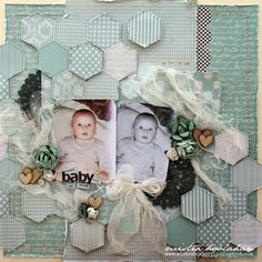"""""""Sweet Baby Boy"""" Layout – Mistra Kaisercraft Products: Tiny Bundle, Little Feet, Little One Baby Boy Scrapbook, Scrapbook Blog, Scrapbook Designs, Scrapbook Paper Crafts, Mixed Media Scrapbooking, Scrapbooking Layouts, Creations, Photo Layouts, Babies"""