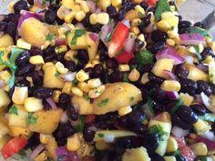 Vegan Black Bean Mango Salsa Recipe - VeganWeightWatchers.com