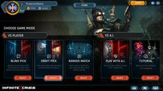 Infinite Crisis - In-Game UI Design on Behance
