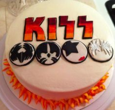 8 Best Kiss Birthday Cakes Images On Pinterest Pasteles 4 Anos