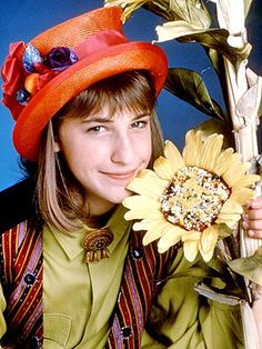 The original quirky girl.  Mayim Bialik as Blossom, early 1990s.