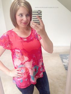 Stitch Fix: Yanna Floral Print Flutter Sleeve Blouse -- Very pretty pattern. Wonder if the fit would be structured enough for me.