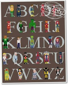 Hey, I found this really awesome Etsy listing at https://www.etsy.com/listing/80948839/pixel-people-superhero-alphabet-sampler