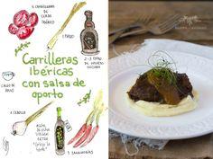 Carilleras ibéricas con salsa de oporto y parmentier