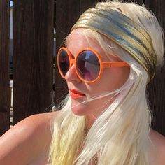 42c4817414 Reserved for Annie Vintage Round Sunglasses- Orange Glasses- 1960s Mod  Accessories- Oversized Sunglasses- Granny Glasses- Round Frame Glasse