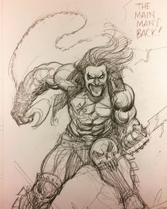 """Frank Cho (@frankchoartist) on Instagram: """"Lobo sketch for fun. Lobo is one of my favorite DC characters. So glad they got rid of the crappy…"""""""