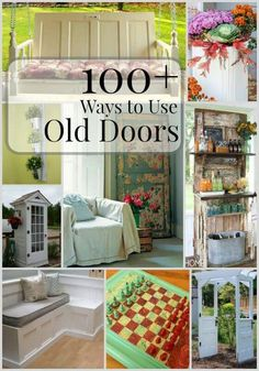 Old doors can be donated or reclaim them and use them in one of these useful way. Old doors can be donated or reclaim them and use them in one of these useful ways. Ways to Use Old Doors Old Door Projects, Furniture Projects, Furniture Makeover, Home Projects, Diy Furniture, Reclaimed Doors, Repurposed Furniture, Repurposed Doors, Decoration