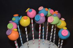 Button Cake Pops For A Lalaloopsy Party La Loopsy