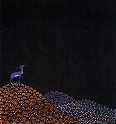 Vittorio Zecchin | Gazelle | silk embroidery on silk, 1921-23