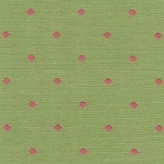 Saybrook Avocado/Strawberry Roth & Tompkins D2288 Dot Fabric	      This green & pink dot fabric by Roth Tompkins is suitable for drapery, bedding, pillows, cushions, table skirts, accent pieces and upholstery. Compare at $37.95   Width: 54 in. Horizontal Repeat: 1 ¼ in. Vertical Repeat: 1 ¼ in. Content: 100% Cotton Dry clean only SKU:13602 Price: $28.75  / yard