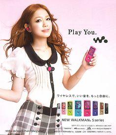 Kana Nishino (Japanese Singer). SONY WALKMAN Catalogue 2012.