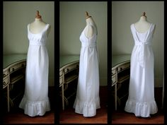 An old fashioned white cotton nightgown. Something a woman would wear in an old Southern home with wood floors, simple yet lovely furniture, a four poster bed. Open windows with soft white curtains billowing gently so that you could see the spanish moss covered trees outside.