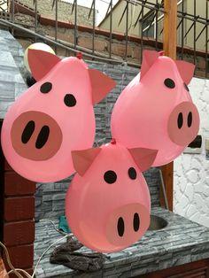 Pig Balloons Globos de chanchitos Farm Party Decoración de granjita