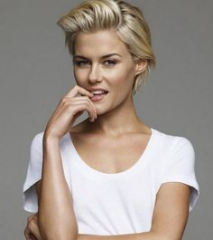 Tucked Back Long Pixie Crop Hairstyles 2017