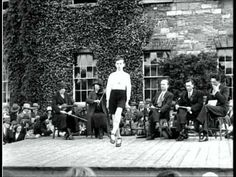 Irish dancing competition in the Phoenix Park in Dublin in 1929