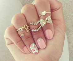 Cute rings and nails!