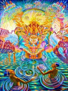 ☯☮ॐ American Hippie Bohemian Psychedelic Art ~ Hypnotize Trippy Psychedelic Art, Fantasy Kunst, Fantasy Art, Psy Art, Hippie Art, Hippie Bohemian, Visionary Art, Fractal Art, Sacred Geometry