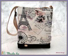 Párizs mintás kis oldaltáska (BellestiDesign) - Meska.hu 033baa2348