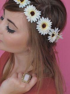 Flower Headbands....aka hippie day