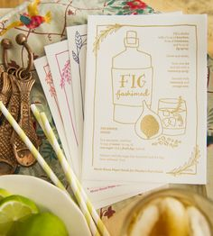 Cocktail Recipe Card Set in Home by Moxie House Paper Goods on Scoutmob Shoppe. Simple cocktail recipe cards with beautiful hand-drawn illustrations and lettering printed on white cotton paper.