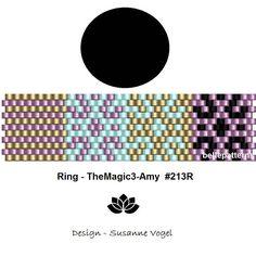 peyote ring pattern,PDF-Download, #213R, beading pattern, beading tutorials, ring pattern