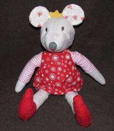 Ikea Princess Mouse Fabler Mus Stuffed Plush Animal Crown Doll Red Dress Girl #Ikea