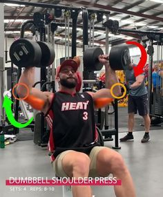 Dumbbell Shoulder Pr Dumbbell Shoulder Press Shoulder Workout Workout Plan Gym Workout