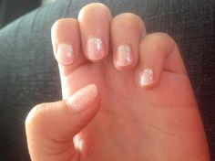 Summer nails - gold glitter natural CND Shellac