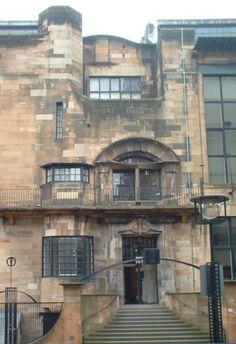 Charles Rennie Mackintosh Architecture - Glasgow School of Art Charles Rennie Mackintosh, Art Nouveau, Art Deco, Glasgow School Of Art, Art School, School Architecture, Architecture Details, Palaces, Mackintosh Design